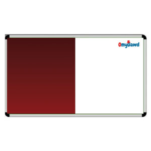 White Board and Maroon Notice Board Combination Size 5 ft x 4 ft