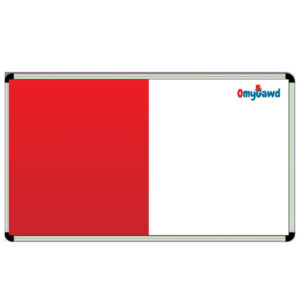 White Board and Red Notice Board Combination Size 8 ft x 4 ft