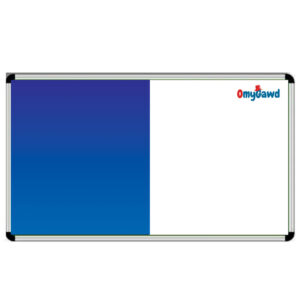 White Board and Blue Notice Board Combination Size 6 ft x 4 ft