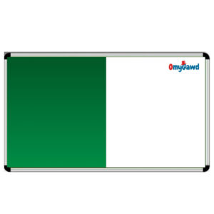 White Board and Green Notice Board Combination Size 8 ft x 4 ft