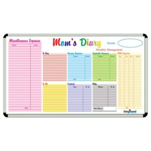 Moms Diary Board Size 4 ft x 3 ft