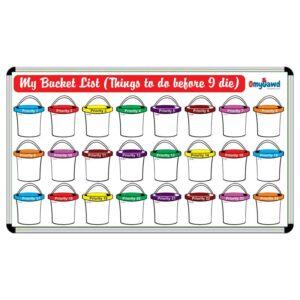 My Bucket List Board Size 3 ft x 2 ft
