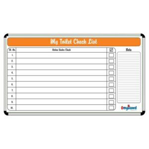 My Toilet Checklist Board Size 3 ft x 2 ft
